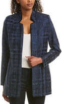Elie Tahari Silk-Trim Jacket