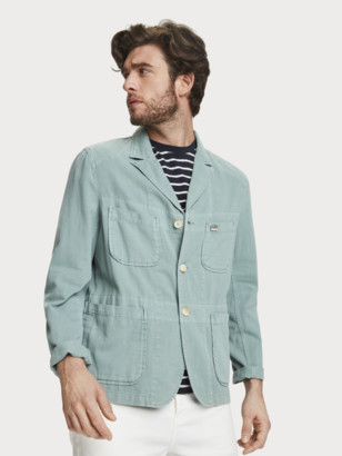 Scotch & Soda Unstructured Cotton-Linen Blazer | Men