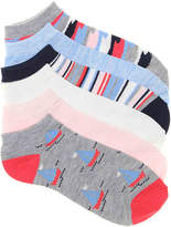 Kelly & Katie Women's Sailboat No Show Socks - 6 Pack -Multicolor