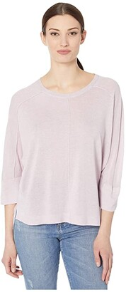 Tribal Dolman 3/4 Sleeve Sweater (Lilac) Women's Clothing