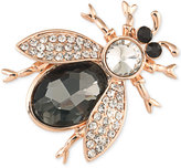Carolee Rose-Gold-Tone Crystal and Pavé Beetle Pin
