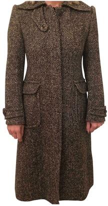 Dolce & Gabbana Brown Wool Coats