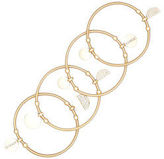 Kenneth Cole Gold Tone Stretch Bracelets