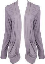 Woven Pleat Knit Cardigan