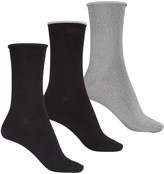 K. Bell K.Bell Soft-and-Dreamy Marl-Tipped Socks - 3-Pack, Crew (For Women)