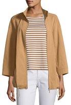 Lafayette 148 New York Xyler Italian Pima Cotton Jacket, Plus Size