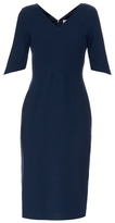 Goat Carmen V-neck wool-crepe dress