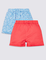 Marks and Spencer 2 Pack Pure Cotton Shorts