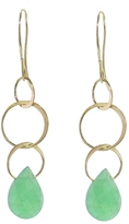 Melissa Joy Manning Three Circle Chrysoprase Drop Earrings
