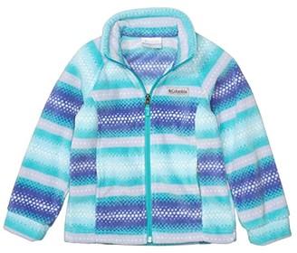 Columbia Kids Benton Springstm II Printed Fleece (Little Kids/Big Kids) (Bright Aqua Bubble Stripes) Girl's Fleece