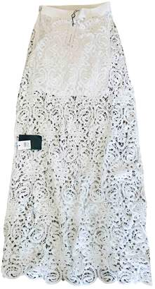 Miguelina White Cotton Dress for Women