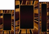 Dynamix Home Ariana Collection 3-Piece Area Rug Set - Ultra Soft & Super Durable 7542-500 Brown