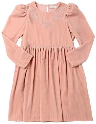 Stella Mccartney Kids Star Embroidered Velvet Dress
