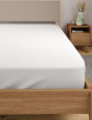 Marks and Spencer Pure Egyptian Cotton 230 Thread Count Deep Fitted Sheet with StayNEWTM