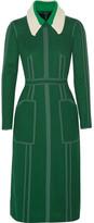 Burberry Stitched Georgette Dress - Dark green