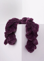 Missy Empire Alina Plum Twisted Fluffy Scarf