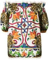 Dolce & Gabbana Majolica leopard print blouse