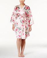 Thalia Sodi Plus Size Printed Kimono Wrap Robe, Only at Macy's