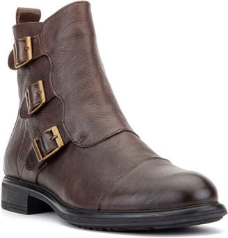 Vintage Foundry Men's Joaquin Buckled Leather Moto Boots