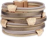 Saachi Style Style Women's Bracelets Gold - Goldtone Metallic Allure Leather Bracelet
