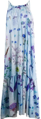 Stella McCartney Floral-Print Open-Back Maxi Dress