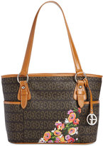 Giani Bernini Floral Block Signature Tulip Tote, Only at Macy's
