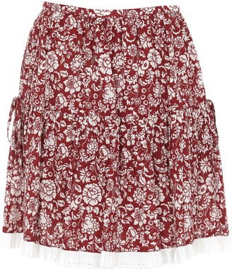 See by Chloe Floral Print Mini Skirt