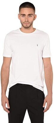 AllSaints Brace Tonic Crew Tee (Light Mineral Blue Melange) Men's Clothing