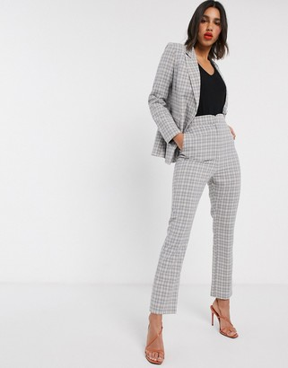 Fashion Union check tailored trousers co-ord