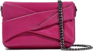 Halston Grace Small Twisted Leather Clutch