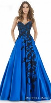 Morrell Maxie Strapless Cascading Floral Applique Ball Gown