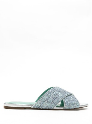 Blue Bird Shoes Cruzada Shine Glitter flat sandals