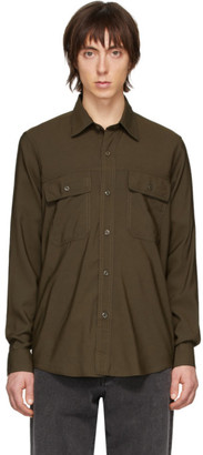 Ami Alexandre Mattiussi Green Double Pocket Shirt