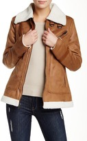 Rachel Roy Faux Shearling Lined Faux Suede Jacket