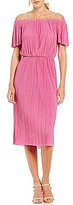 Gianni Bini Fan Fav Madeline Plisse Off the Shoulder Midi Dress