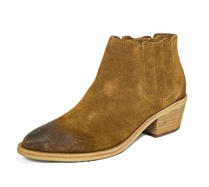 Urge Brown Leather Bootie