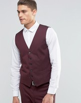 Selected Homme Waistcoat With Stretch In Slim Fit