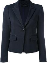 Emporio Armani classic blazer - women - Polyamide/Spandex/Elastane/Viscose - 42