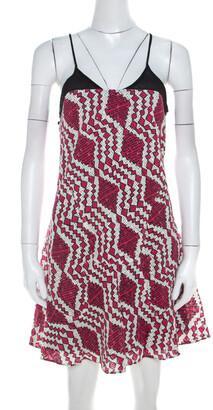 Thakoon Fuchsia Pink Printed Cotton Cami Dress XS