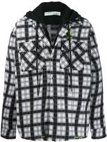 Off-White Off White check pattern layered shirt jacket