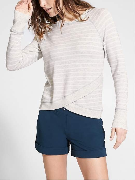 Stripe Criss Cross Sweatshirt