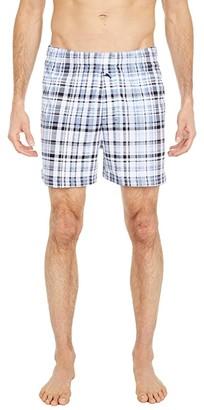 Tommy Bahama Knit Boxers (Blue on Blue Plaid) Men's Underwear