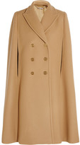 Alexander McQueen Double-breasted Wool-felt Cape - Camel