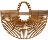 Cult Gaia X Adriana Degreas wooden fan tote bag