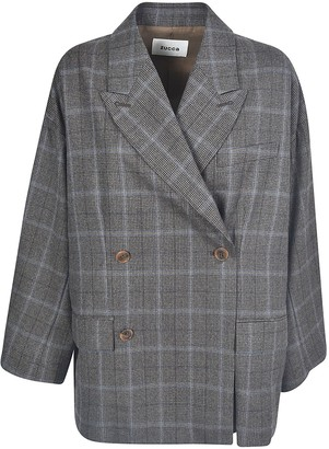 Zucca Double-breasted Check Jacket