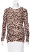Equipment Wool-Blend Leopard Print Sweater