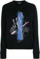 DSQUARED2 Pierced Hand print sweatshirt