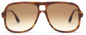 Victoria Beckham Aviator Tortoiseshell-acetate Sunglasses - Light Brown