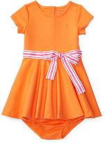 Ralph Lauren Girl Ponte Dress & Bloomer