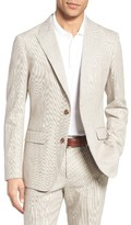Bonobos Men's Trim Fit Houndstooth Linen & Cotton Sport Coat